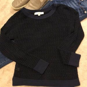 Loft loose knit navy sweater